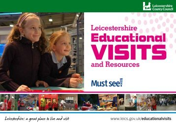 Download our Educational Visits and Resources Brochure (PDF)