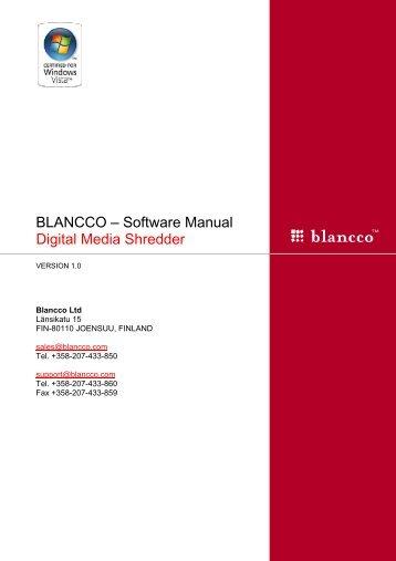 BLANCCO – Software Manual Digital Media Shredder
