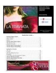 Education Guide La Traviata by Giuseppi Verdi 1 - Edmonton Opera