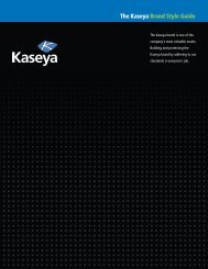 The Kaseya Brand Style Guide