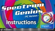Spectrum Genius Advanced Instructions - Allied Scientific Pro