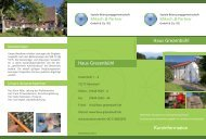 Info-Flyer Haus Grezenbühl als PDF zum downloaden