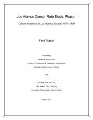 Los Alamos Cancer Rate Study: Phase I - National Nuclear Security ...