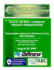 156 West Presentation - Transportation Agency for Monterey County