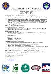 nota informativa y programa v trofeo caja rural de granada 2013