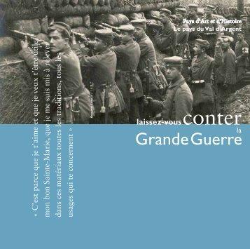 Grande Guerre - le site du Val d'Argent