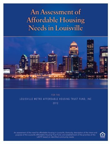 An Assessment of Affordable Housing Needs in Louisville