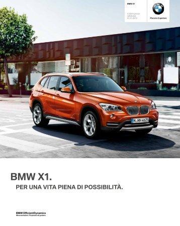 Gli optional della BMW X1