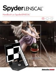 Weitere Informationen zu SpyderLensCal - Datacolor