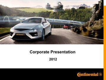 Corporate Presentation - Continental Tyre Group AG