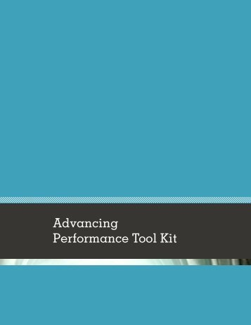 Advancing Performance Tool Kit