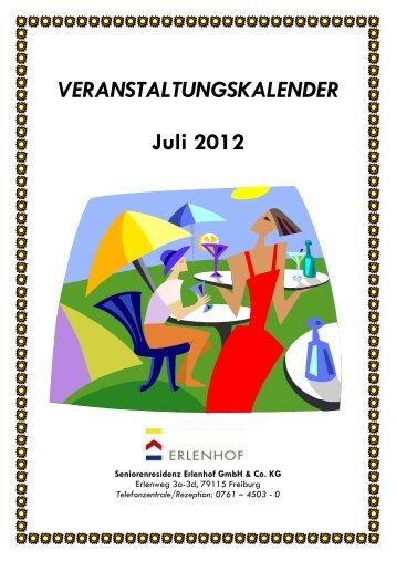 VERANSTALTUNGSKALENDER Juli 2012 - Seniorenresidenz ...