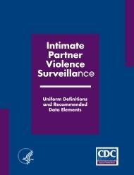 Intimate Partner Violence Surveillance - Centers for Disease Control ...