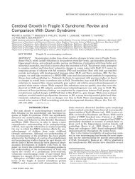 Cerebral growth in Fragile X syndrome - Center for Genetic ...
