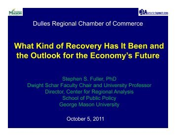 Dulles Regional Chamber Oct 2011.pdf - Center for Regional Analysis