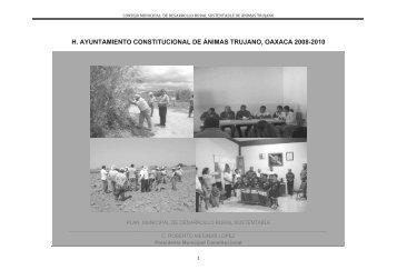 h. ayuntamiento constitucional de ánimas trujano, oaxaca 2008-2010