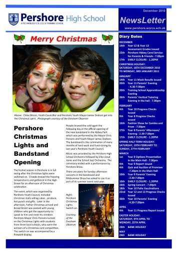 1) NEWSLETTER DEC - Pershore High School