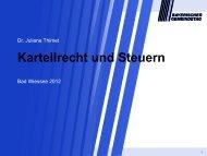 Kartellrecht und Steuern, Gebührenkalkulation ... - ipse-service.de