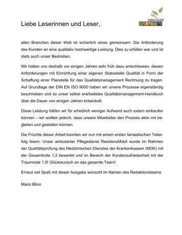 Residenz Journal - Ausgabe Juli 2010 - Seniorenresidenz Moseltal