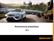 Koncernová prezentace - Continental Tyre Group AG