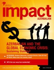 IMPACT AZERBAIJAN, 5th ISSUE - AmCham