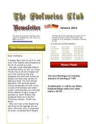 Die Praesidenten Ecke - German-American Club of Boise, Idaho