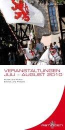 Veranstaltungen Juli ? august 2010 - Stadt Ratingen