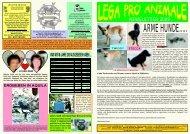 Jahresbericht 2009 deutsch.cdr - Lega Pro Animale