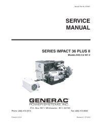 Quietpact 40G Diagnostic Repair Manual Model 4700 - Generac