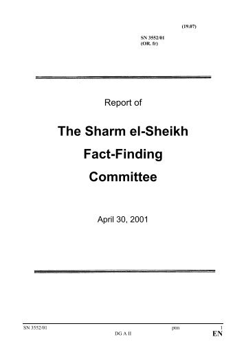 The Sharm el-Sheikh Fact-Finding Committee - UNSCO