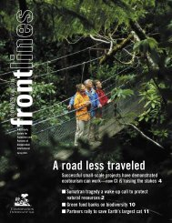 A road less traveled - Conservation International