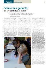Schule neu gedacht - 4. Gesamtschule der Stadt Aachen