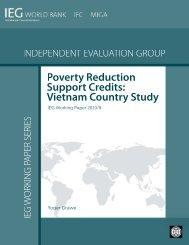 Vietnam Country Study (Working Paper) - World Bank