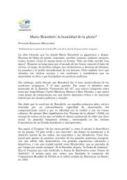 Mario Benedetti: la humildad de la gloria* - Fernando Butazzoni