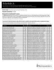 75/100 guarantee optio (Schedule A) - Transamerica Life Canada
