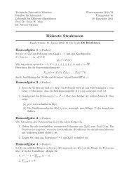Diskrete Strukturen - Lehrstuhl für Effiziente Algorithmen