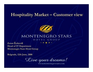Hospitality Market – Customer view - NES Communications