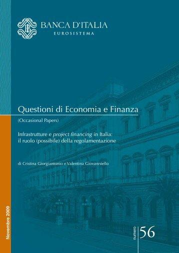 il ruolo (possibile) della regolamentazione - Banca d'Italia