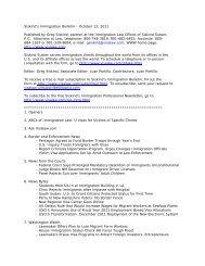 Siskind's Immigration Bulletin – October 12, 2011 ... - Siskind, Susser