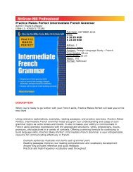 Practice Makes Perfect Intermediate French Grammar - McGraw-Hill ...