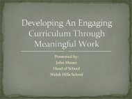 Developing An Engaging Curriculm and Creating Global ... - isacs