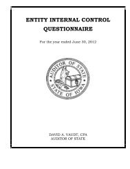 ENTITY INTERNAL CONTROL QUESTIONNAIRE - Office of Auditor ...