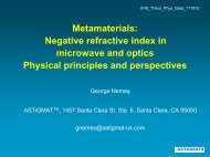Metamaterials: Negative refractive index in ... - Theory.nipne.ro