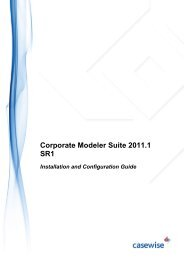 Corporate Modeler Suite 2011.1 SR1 Installation and ... - Casewise