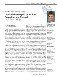 Glossar der Grundbegriffe für die Praxis Parodontologische ...