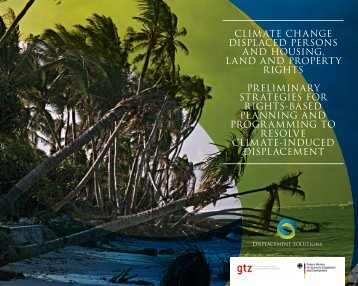climate change displaced persons and housing, land and property