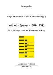 Wilhelm Speyer (1887-1952)