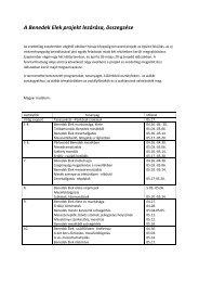 A Benedek Elek projekt lezárása, összegzése - Benedek Elek EGYMI