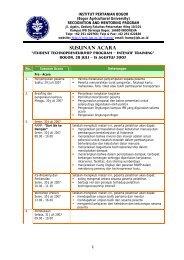 Susunan Acara (pdf) - Bogor Agricultural University