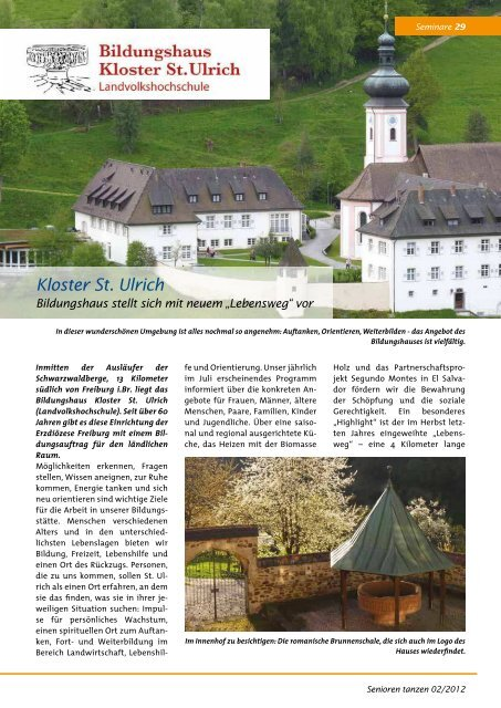 Kloster St. Ulrich - Bundesverband Seniorentanz eV